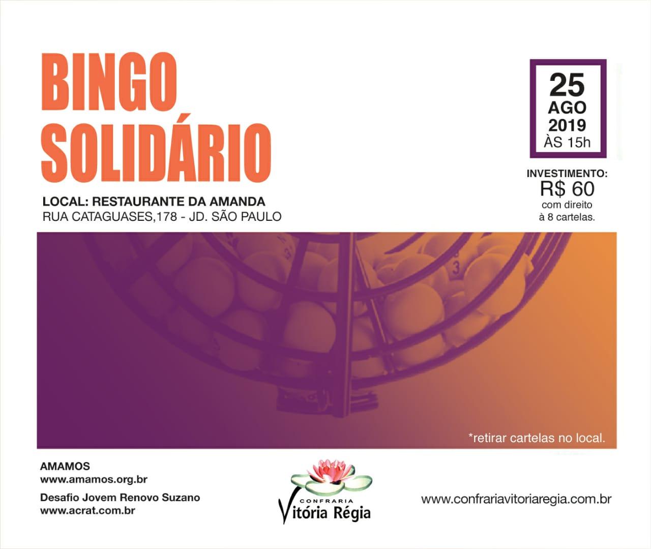BINGO SOLIDÁRIO da CONFRARIA VITÓRIA RÉGIA!!!