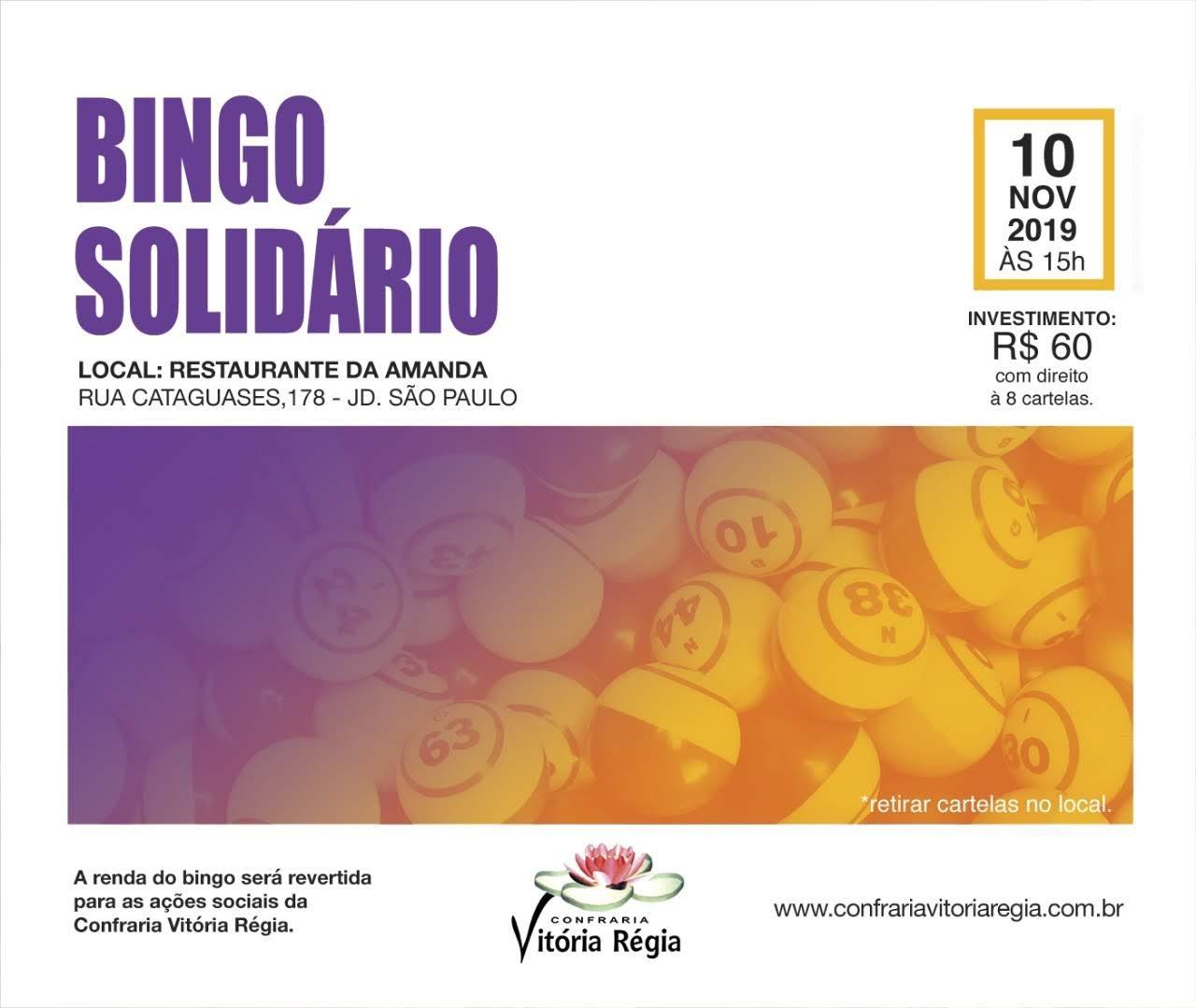 BINGO SOLIDÁRIO da Confraria Vitória Régia